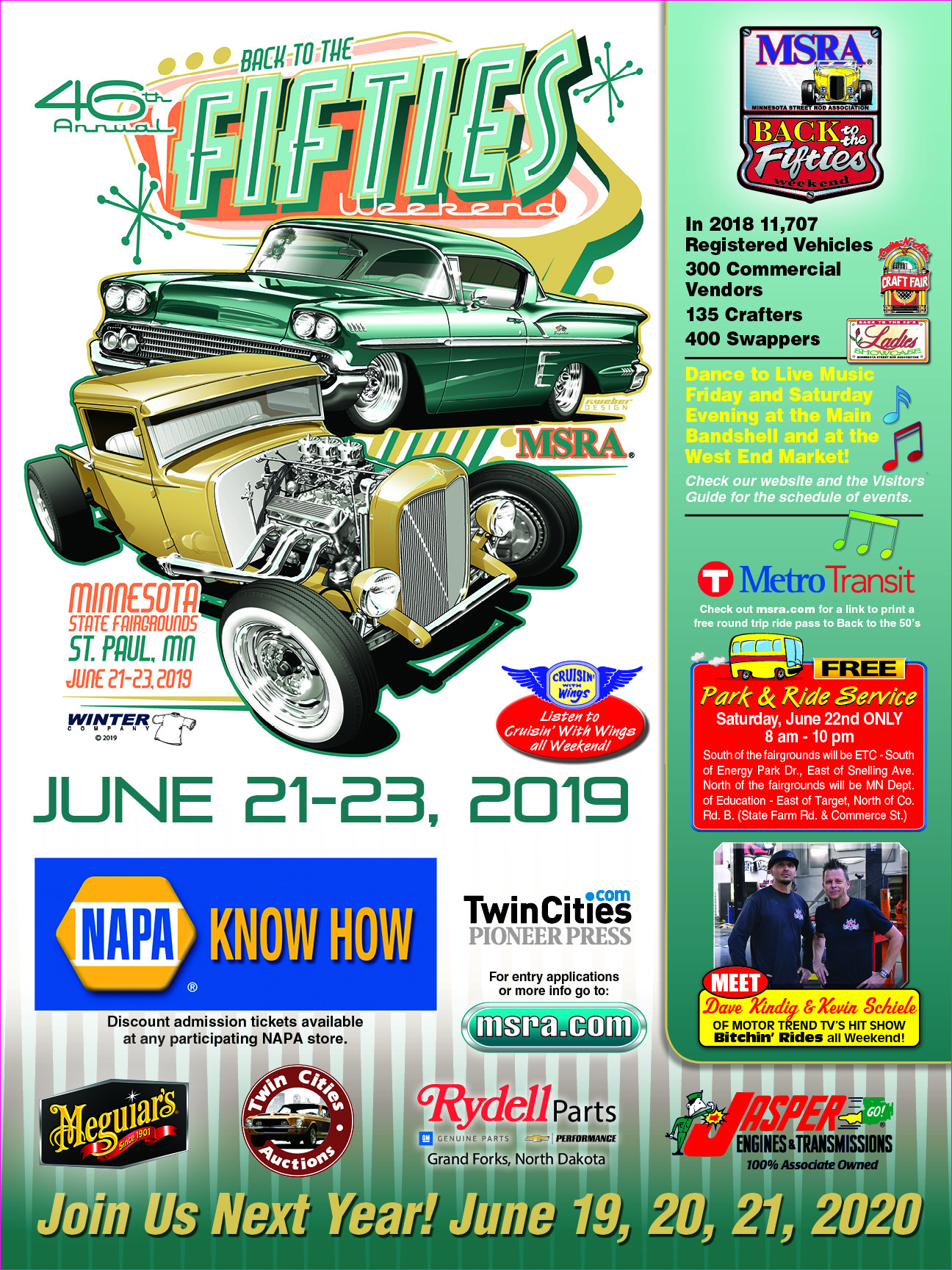 Back To The 50s Car Show 2020.Msra Back To The 50 S Weekend June 19 21 2020
